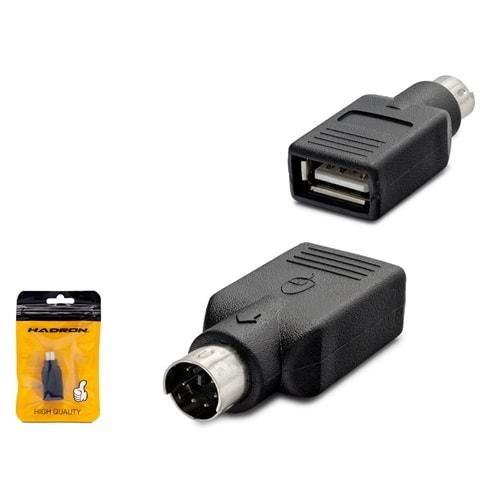 HADRON HDX5024(4133) ADAPTÖR ÇEVİRİCİ USB TO PS/2 F/M